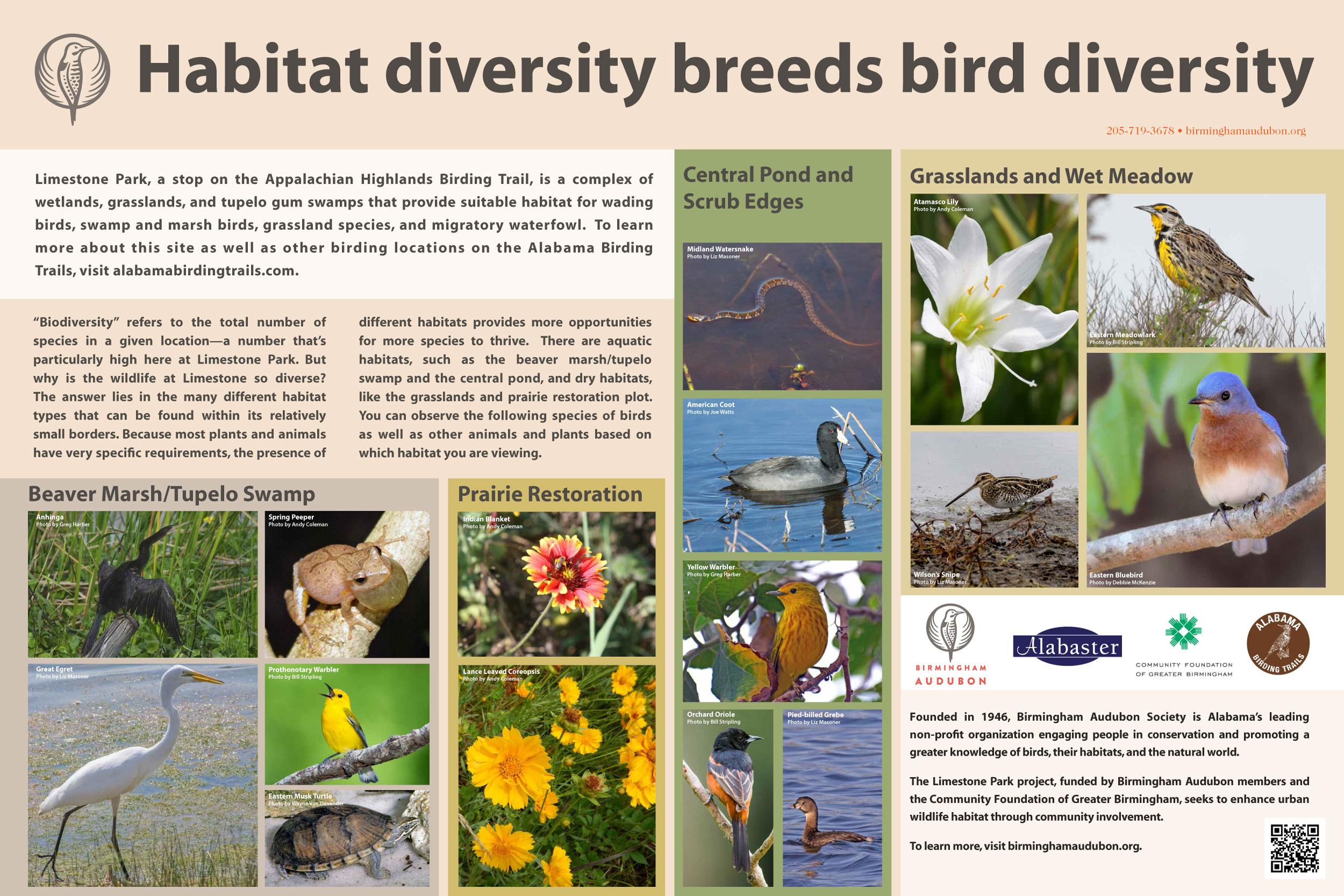 Signage for Birmingham Audubon